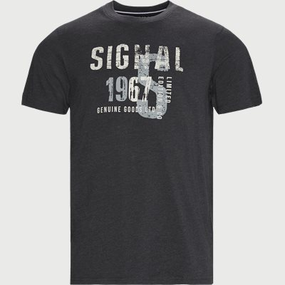 Regular | T-shirts | Grå